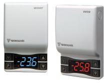 Kompaktní nástěnný termostat Tecnologic W09 HRB s 8A relé a modrým displejem
